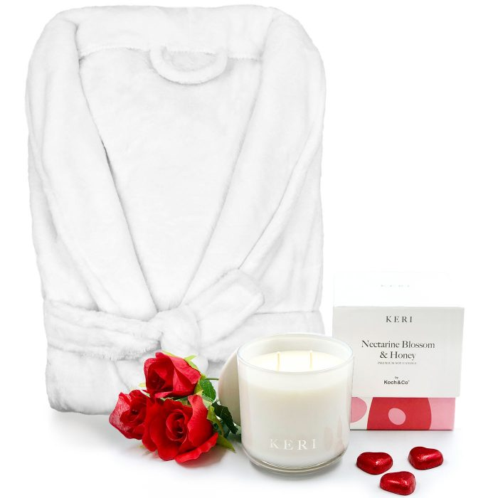 Bathrobe-Candle-and-Roses-Valentine's-Day-Gift