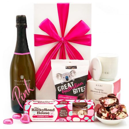 Pink Sparkling Candle and Chocolate Gift