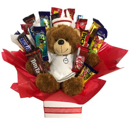 Chocolate Bouquet – Get Well Soon Nurse Teddy